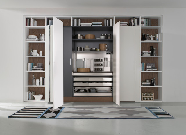 Pantry Stainless Steel Door Pantry Cabinets New York By Pedini