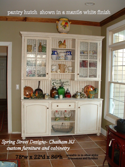pantry painted hutch