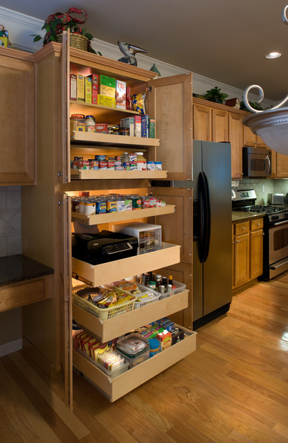 Pantry pull out shelves kitchen other metro by Kitchen cabinet organization systems