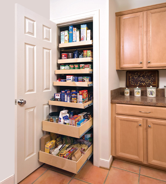 Slide out drawers for pantry