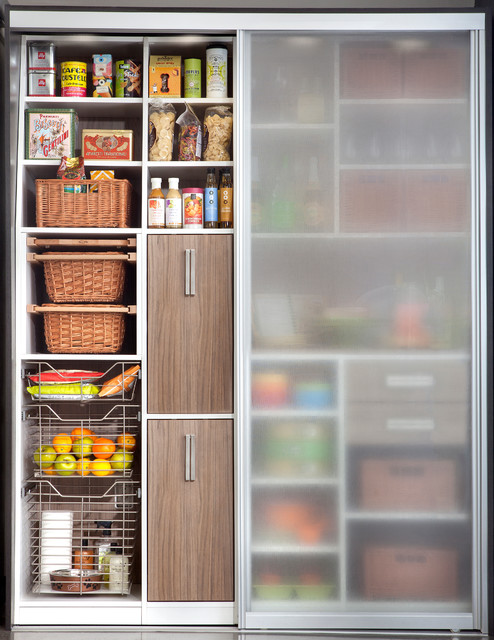 Pantry Sliding Doorsmodern Kitchen New York