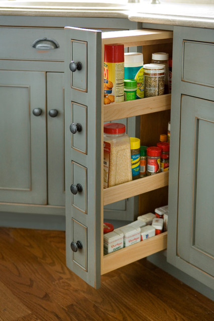 Pantry Spice Cabinet - Traditional - Kitchen - Boston - by Heartwood ...
