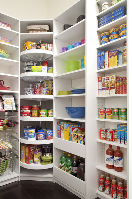 Pantry With Corner Lazy Susan Kitchen