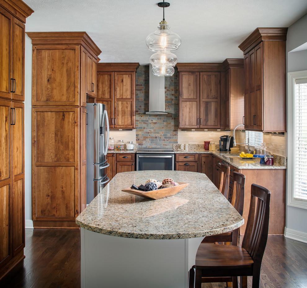 Papillion Transitional Rustic - Rustic - Kitchen - Omaha ...