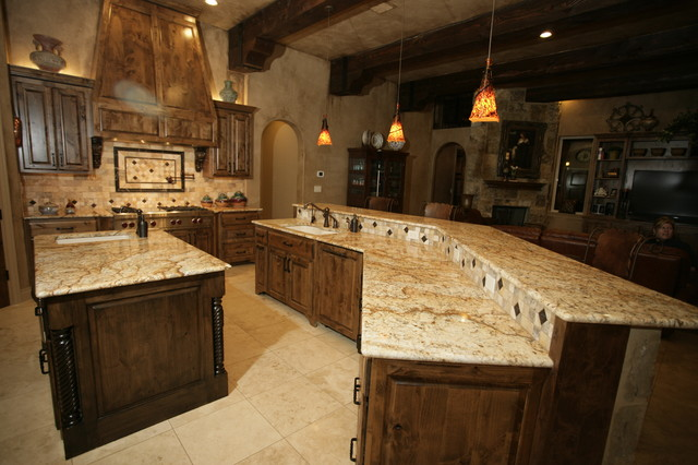 Nice Parade Of Homes Rock Wall Ranch, New Braunfels, Texas Mediterranean Kitchen