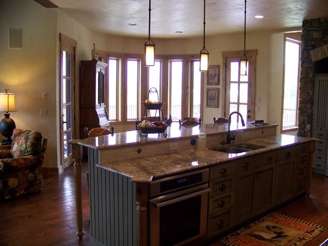 park city area custom home - Rustic - Kitchen - salt lake city - by Utah Design Build LLC