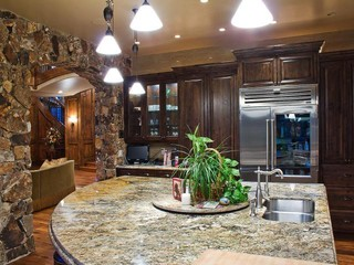 Park City Quarry Mountain Home Contemporary Kitchen