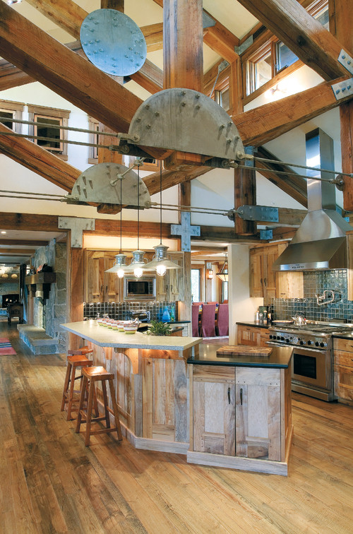 Industrial Rustic Kitchen Cabinets