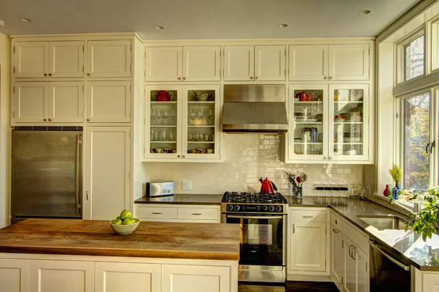 Park Slope Brownstone rustic kitchen
