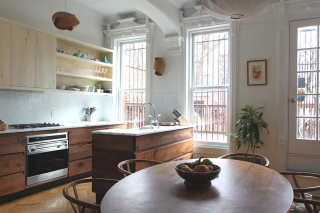 Lovely Park Slope Brownstone Contemporary Kitchen