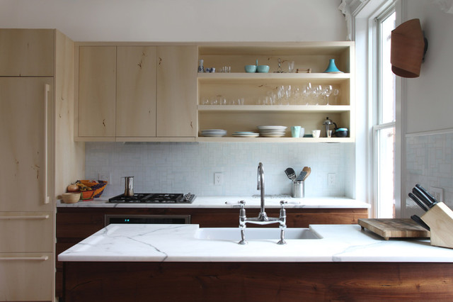 Park slope brownstone contemporary kitchen new york for Brownstone kitchen ideas