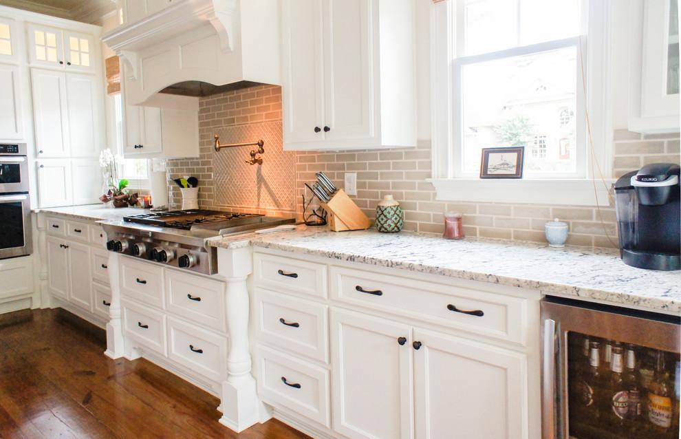 Partial Overlay Cabinets - Craftsman - Kitchen - Atlanta ...