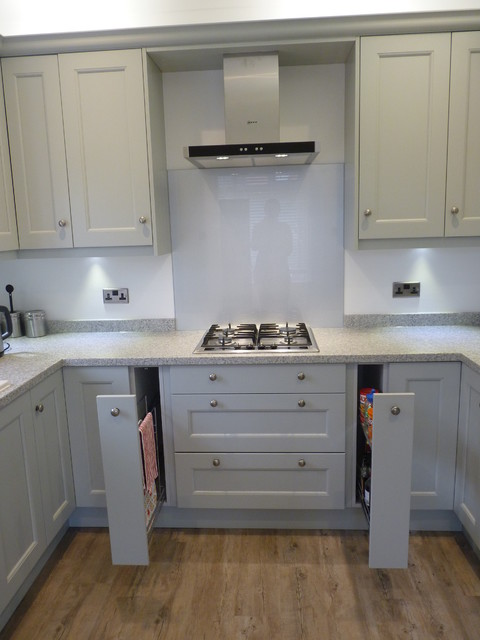 Partridge Grey Mornington Shaker Ferring Transitional Kitchen Sussex