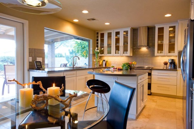 pash residence contemporary-kitchen