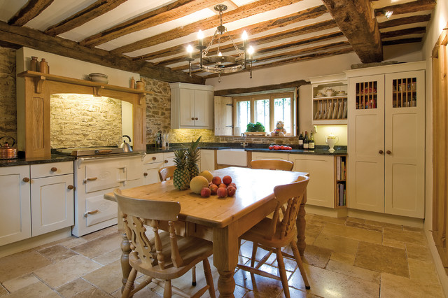 Inspiration For A Small Country L Shaped Eat In Kitchen Remodel Devon With