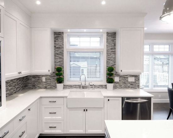 Backsplash Around Window Home Design Ideas Pictures