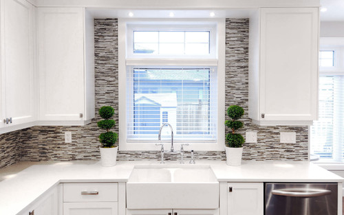 I Love This Kitchen Is That A Bulkhead On Top Of The Cabinets Or Furring Panel How High Is The