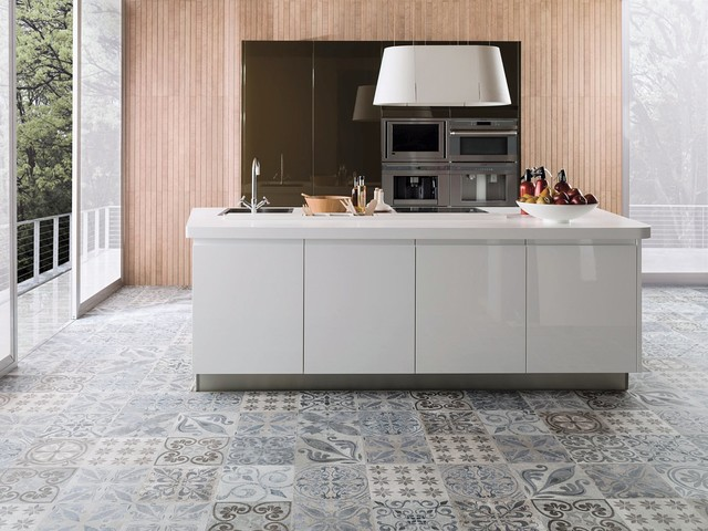 Kitchen Tiles Perth patterned feature tiles - antique silver - contemporary - kitchen