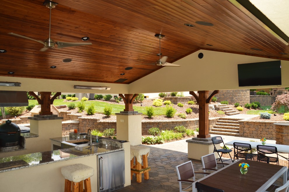 Pavilion with Outdoor Kitchen & Pizza Oven in Kingsport ...