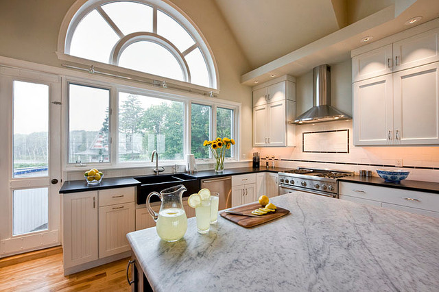 Peaks Island Ocean View Home Traditional Kitchen