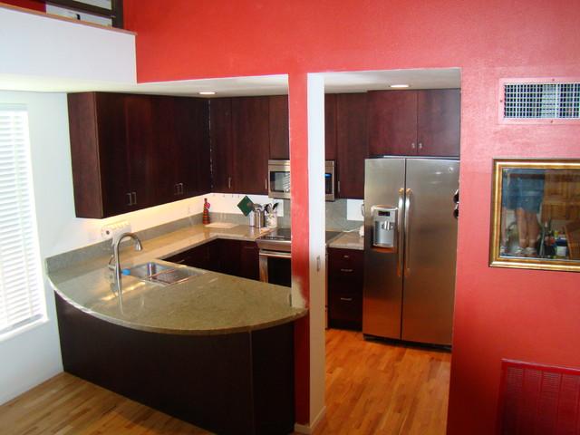 Pearl condo: kitchen remodel & mezzanine addition contemporary-kitchen