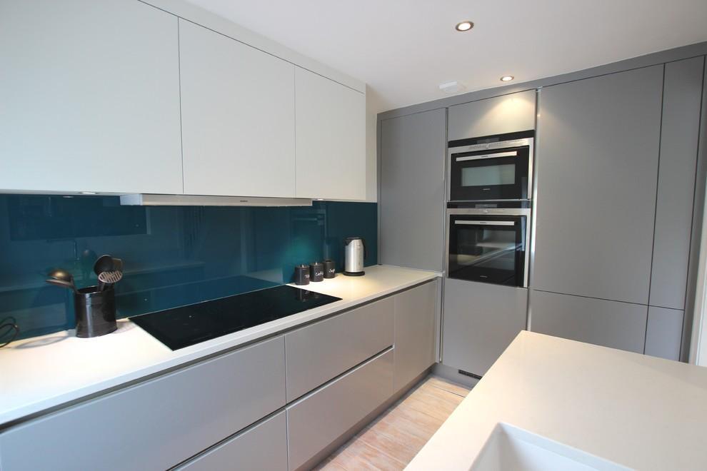 Pearl Grey And White Matt Kitchen Contemporary Kitchen London By Lwk London Kitchens