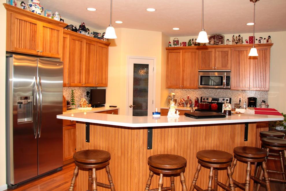 Pecan Beaded - Craftsman - Kitchen - Omaha - by Merritt's ...