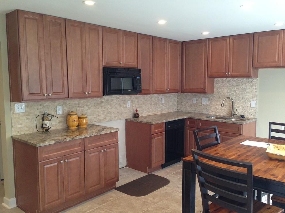 Pecan Color hallmark full overlay kitchen cabinet ...