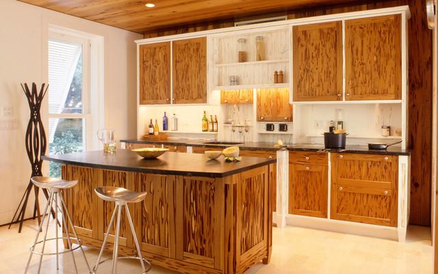 Pecky Cypress Kitchen Cabinets Contemporary Kitchen Los Angeles By Hughesumbanhowar Architects