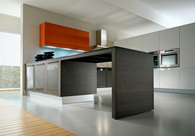 pedini integra in grey rift cut oak On pedini cabinets