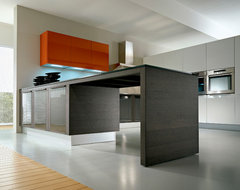 Pedini Integra in grey rift cut oak modern kitchen