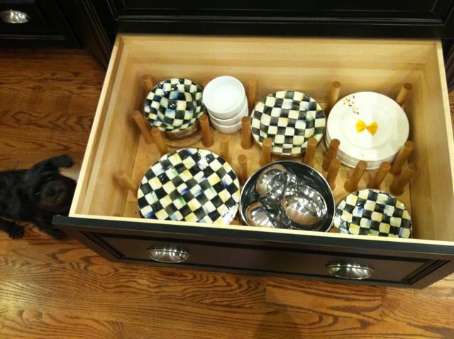 pegged dish drawer transitional-kitchen