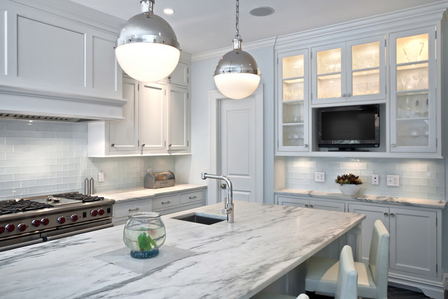 Pelham Shingle Style for a Modern Family contemporary-kitchen