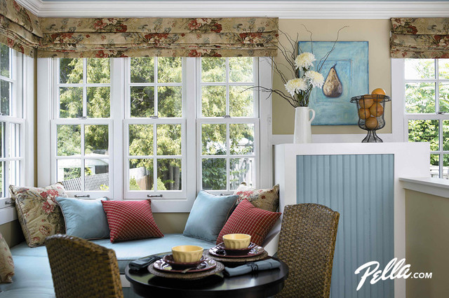 pella architect series double hung windows create a cozy corner traditional kitchen. Interior Design Ideas. Home Design Ideas