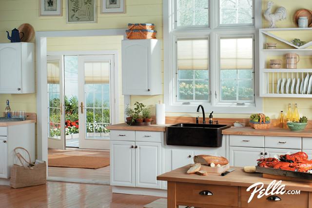 Pella Designer Series casement windows, patio doors provide clean look  traditional-kitchen