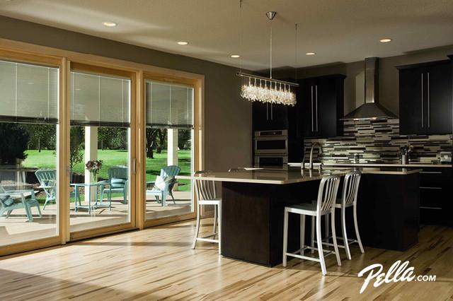 Pella Designer Series Patio Door Transitional