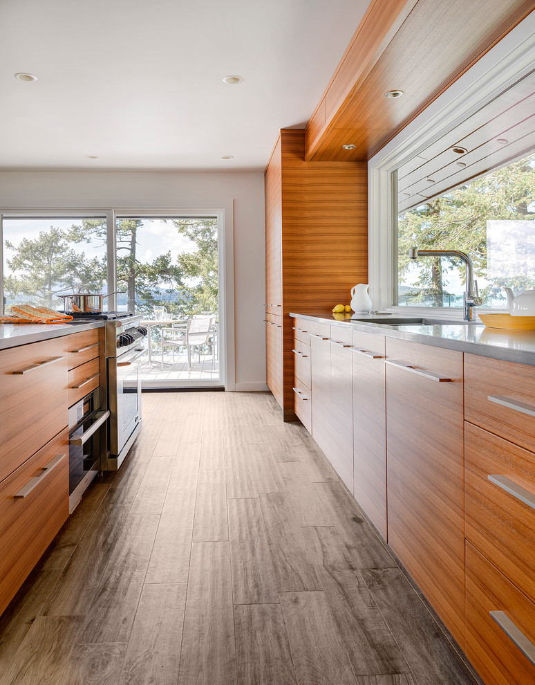 Inspiration for a coastal kitchen remodel in Vancouver