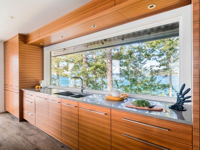 Pender island retreat beach style kitchen vancouver for Kitchen design consultants