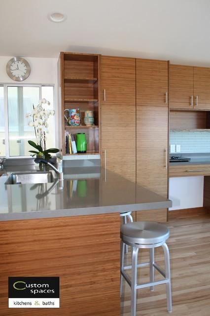Peninsula and Pantry View modern-kitchen