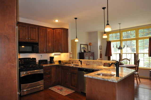Peninsula Remodel Traditional Kitchen Boston By