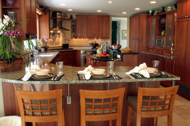 Peninsula with seating transitional kitchen other - Kitchen peninsula designs with seating ...