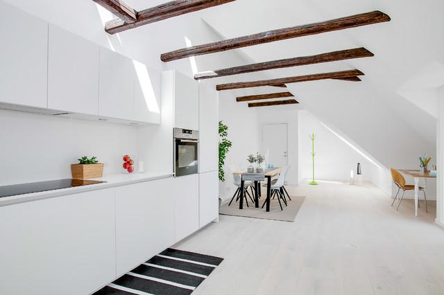 Penthouse i Charlottenlund scandinavian-kitchen