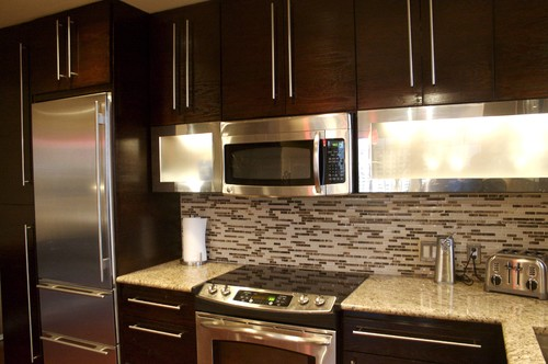 color cabinets is chocolate pear it glaze over white kitchen bristol