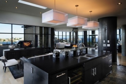 Penthouse contemporary kitchen