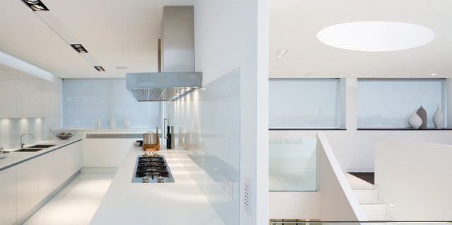 Penthouse, Victoria, London contemporary-kitchen