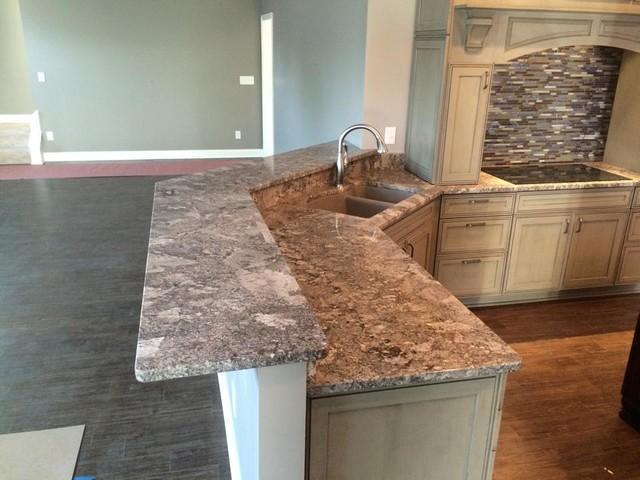 Pergamino Granite Contemporary Kitchen Indianapolis