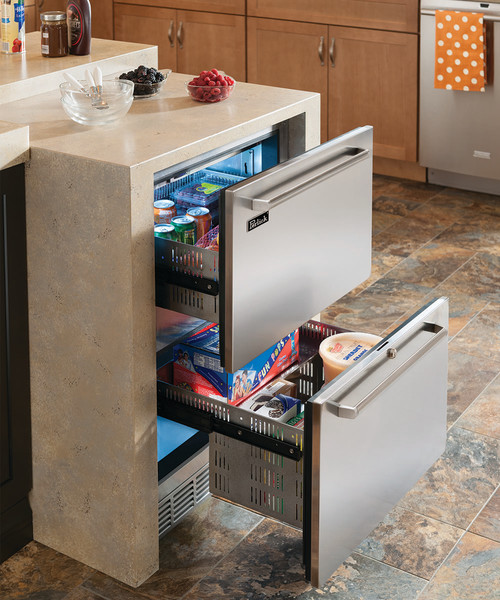 "Perlick 24"" Signature Series Dual-Zone Freezer/Refrigerator Drawers"