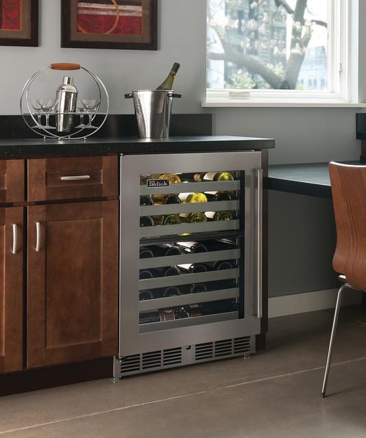 "Perlick 24"" Signature Series Dual-Zone Wine Reserve kitchen"