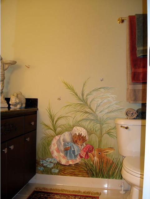 Rabbit Runn Designs A Kitchen Makeover: Peter Rabbit Mural Inspired By Beatrix Potter