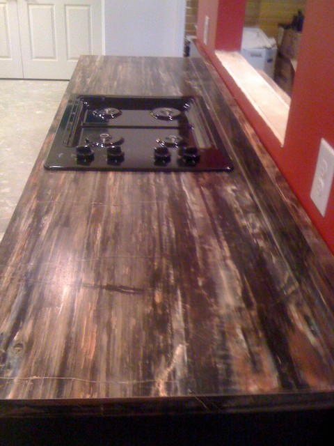 Petrified Wood Formica Laminate Modern Kitchen Chicago By